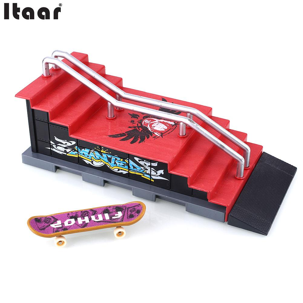 Alloy Skateboard Figures Games Set Toys Colorful Plastic Operation Safe