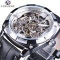 Forsining, спортивные часы, черные, серебряные, открытые, мужские, светящиеся, водонепроницаемые, мужские, автоматические, наручные часы, лучший ...