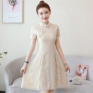 Image 4 - 夏のチャイナヴィンテージ中国女性エレガントなドレス刺繍の花嫁のウェディング袍チャイナ中国の伝統的なドレスレトロ