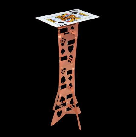 Alluminum Alloy Magic Folding Table,copper color (poker pattern) - Magic Tricks,Stage magia,Necessity for Magician,Accessories alluminum alloy magic folding table red poker table easy to carry for magicians stage magic tricks magie accessories gimmick