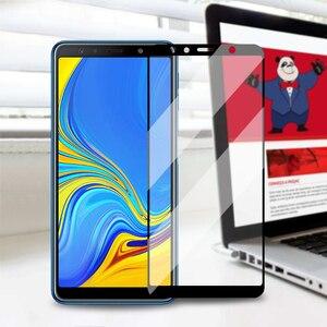 Image 2 - Màn Hình Có Kính Cường Lực Dành Cho Samsung Galaxy Samsung Galaxy A8 Plus A7 2018 A6 Full Bao Kính Cường Lực Bộ Phim Trên Dành Cho Samsung galaxy A7 A8 A6