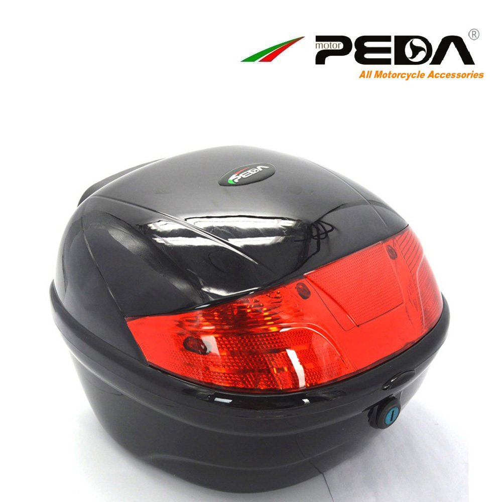 PEDA Motorcycle Top Case e <font><b>Bike</b></font> box <font><b>Electric</b></font> Scooter Trunk ABS One Helmet Hard Tail Box Luggage case Baul Motocicleta Bauletto