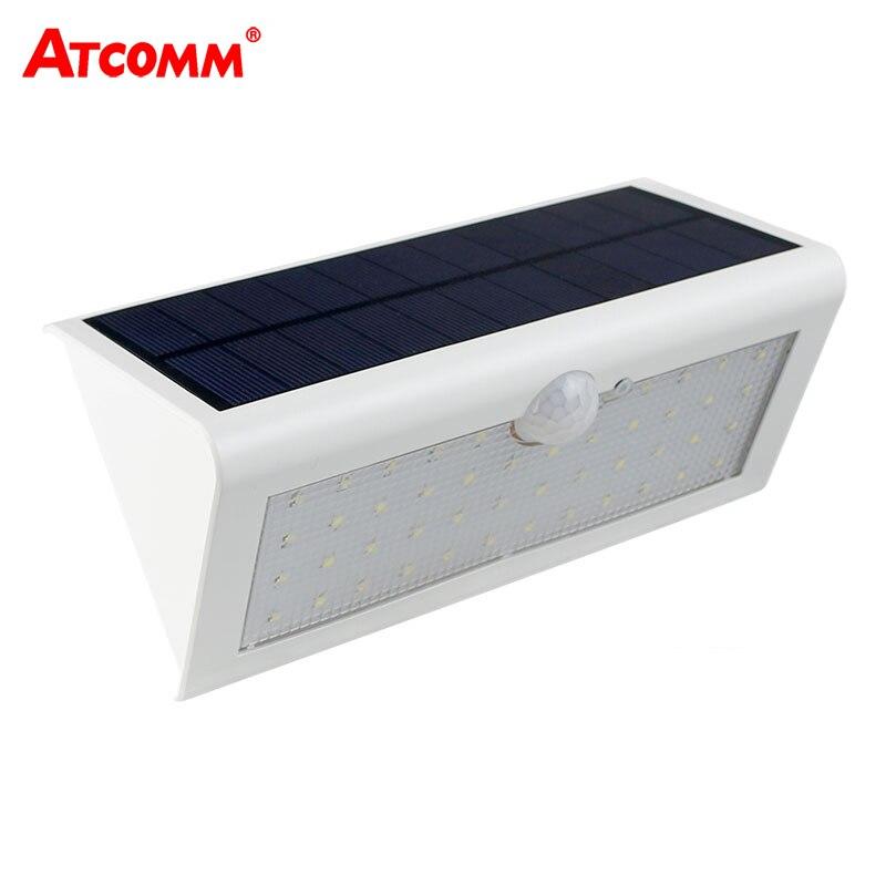 800 Lumen LED napelemes lámpa IP65 vízálló SMD 2835 48 LED-ek energiatakarékos 3 üzemmód LED dióda napelemes világítás kültéri világítás