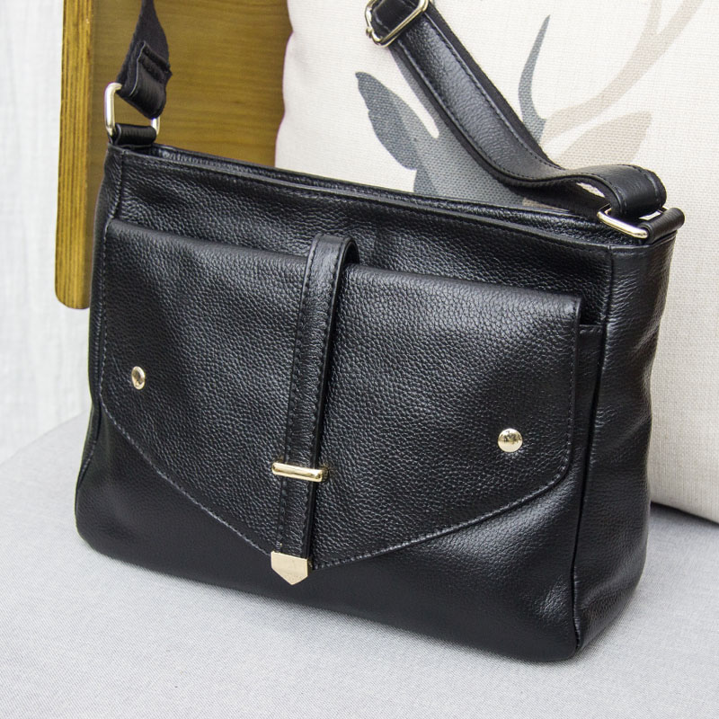 Genuine Leather Women Handbag Shoulder Filp Bag Cowhide Brand Designer Luxurious Ladies Fashion Crossbody Messenger Bags