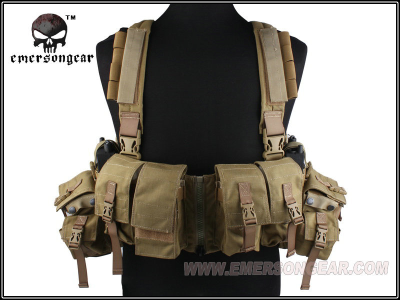 EMERSON EM2977 LBT 1961A-R Tactical Chest Rig Vest w/ Airsoft Painball & Military Army Combat Gear USA 500D Cordura Kakhi tactical strategic d mittsu chest rig airsoft military combat gear khaki free shipping stg050940