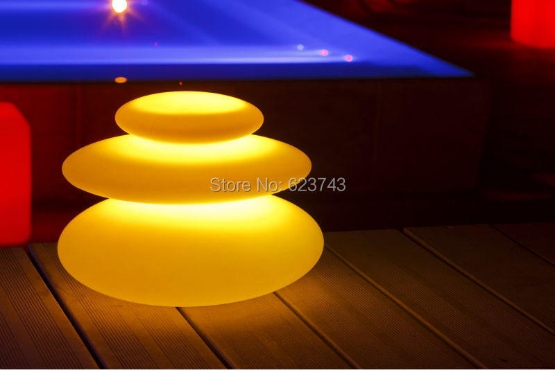 16 Colors Changeable Waterproof LED Zen Modern Indoor Outdoor Lighting Rechargeable Glowing LED Tower Decor Lamp Pebble Light in LED Night Lights from Lights Lighting