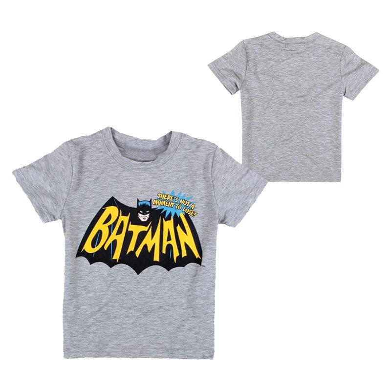 Bande dessinée Batman Garçons T-Shirts Manches Courtes En Coton Sans Manches Enfants T-shirt Garçon Sport T-shirts Casual Enfants Tops Bébé Vêtements