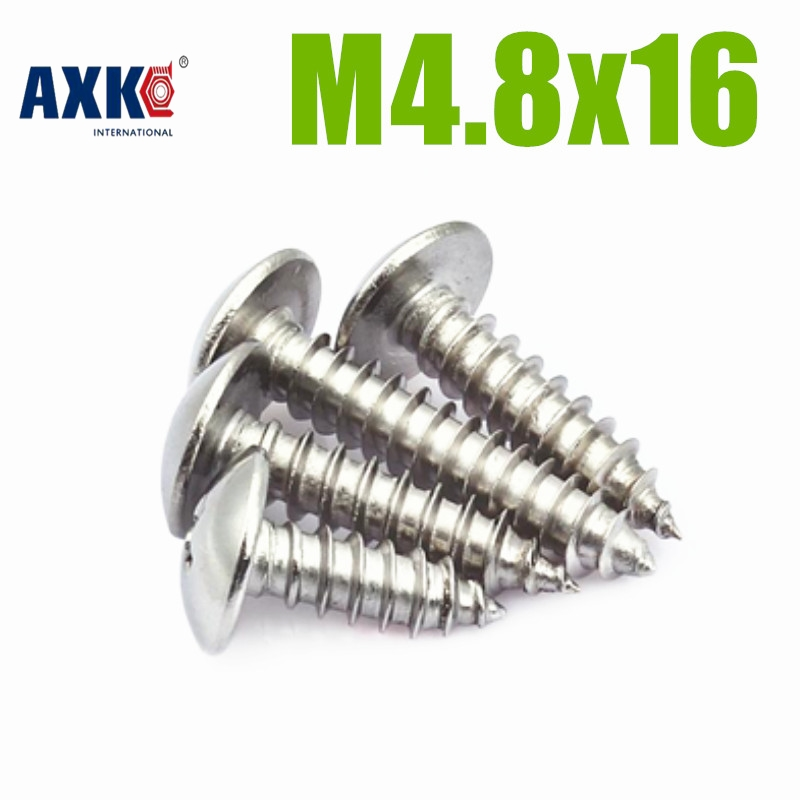 50pcs/lot Metric Thread M4.8x16 mm M4.8*16mm 304 Stainless Steel Self tapping screws Pan Head Cap Screw Bolts M4.8x16 10pcs m6 16mm m6 16mm 316 ss stainless steel mushroom head sttp screw self tapping screw truss phil screws