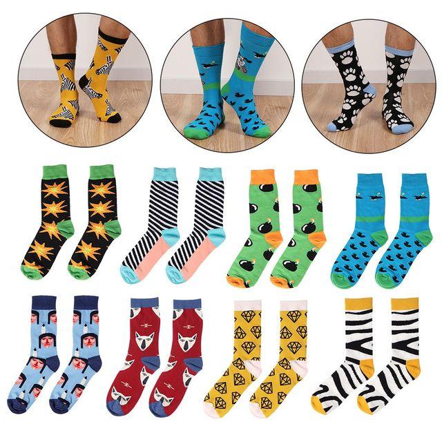 734365b56 1Pair Korean Harajuku Style Funny Colorful Socks Men Women Cotton Soft  Elastic Kawaii Hosiery Winter Warm Socks Summer Sexy Sock