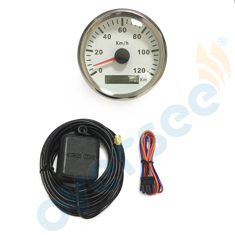 3.5 inches 85mm Oversee GPS speedometer 120KM For Marine Boat Speed Boat Meter (910-00076) 1