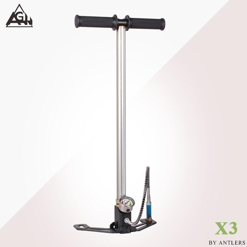AGH 30Mpa 4500psi Air PCP Paintball Pump Air Rifle hand pump 3 Stage High pressure with