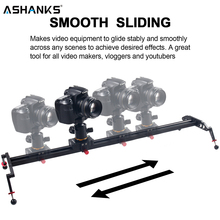 """ASHANKS камера слайдер 2"""" /60 см шарикоподшипник типизированная рельсовая система для DSLR и видеокамеры, смартфон для Ютуба и пленочного производителя"""