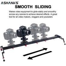 """Ashanks camera slider 23 """"/60cm rolamento de esferas digitado sistema ferroviário para dslr e câmera de vídeo, smartphone para youtuber e fabricante de filmes"""