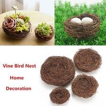 Ручной работы лоза коричневый Птичье гнездо дом природа ремесло праздничное украшение