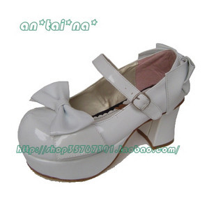 Tai an na lolita cos punk hot-selling big bow women's japanned leather shoes 9026 - 3 chromophous аксессуары для косплея cosplay wig cosplay cos cos
