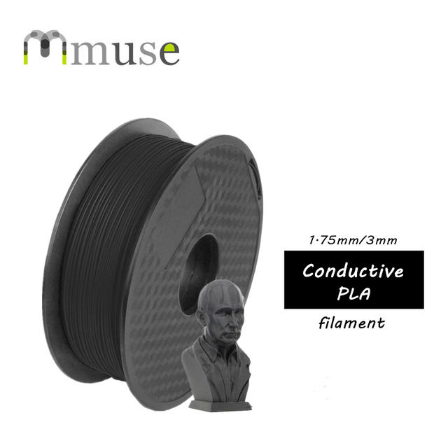 US $21 62 6% OFF 0 5KG 1 75mm Black Conductive PLA Filament For FDM 3D  Printer-in 3D Printing Materials from Computer & Office on Aliexpress com  