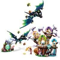 Elves Series The Elvenstar Tree Bat Attack Model Building Block Bricks Toys Compatible With Legoings Girl Friends