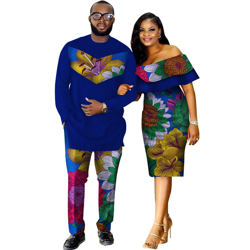 African-Dashiki-Print-Couple-Clothing-for-Lovers-Two-Piece-Set-Men-s-Suit-Plus-Women-s(19)