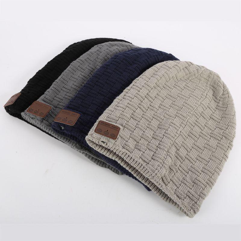 b6d43dbbb8c  Winter  Warm  Wireless  Bluetooth  Thick Knit  Beanie Hat  Built-in Stereo   Headphone  Earphone  Microphone