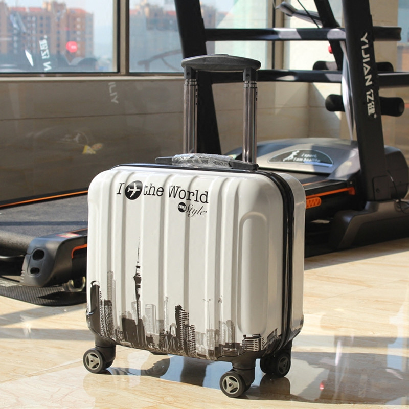 Wholesale!18inches lovely cartoon abs hardside trolley luggage bag on universal wheels,children boarding luggage bag,fashion bag wholesale retro abs pc hardside case aluminum alloy frame 26 inch luggage on universal wheels high quality tsa lock trolley box
