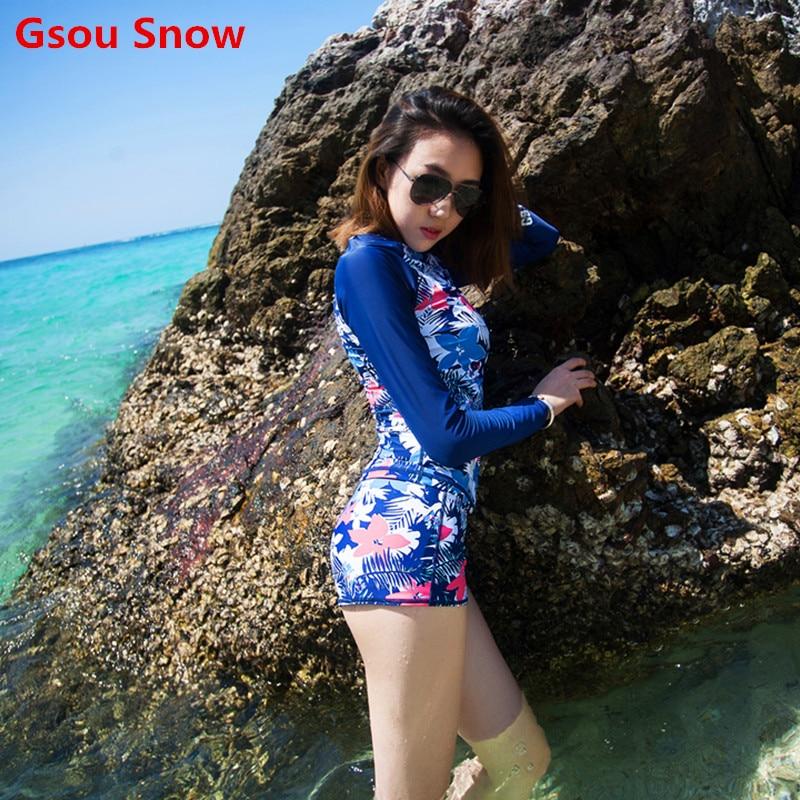 GS Brand korea Wetsuit Swimwear Rashguard Women Rash Guard Beachwear Diving Swimsuit bermuda surf mergulho surfer rash guard rashguard mergulho rashguard a808