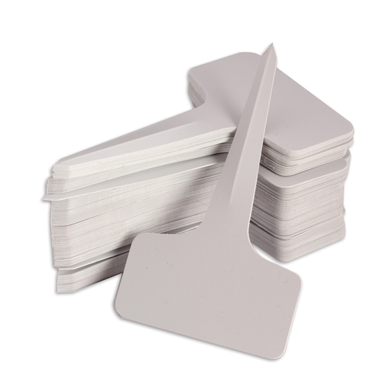 50 Pcs Garden Labels Gardening Plant Classification Sorting Sign Tag Ticket Plastic Writing Plate Board Plug In Card White