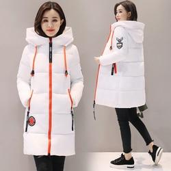 Parka kobiety 2019 kurtka zimowa kobiety płaszcz z kapturem znosić kobiet Parka gruba bawełna wyściełane podszewka zima kobiet podstawowe płaszcze Z30 1