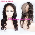 "Body Wave Malaysian Virgin Human Hair 360 Lace Frontal With Wig Cap Pre Plucked 13""x4"" 360 Degree Lace Frontal Closures With Cap"