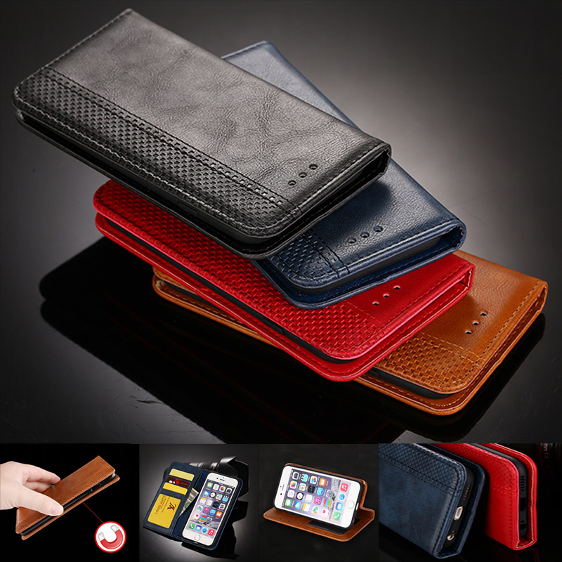 Magnet Leather Wallet Case for Huawei Honor Play 8A 8C 7X 6A 9i 6X 5C 4C V20 V10 6 8 9 Card Slot Flip Cover Case Honor 4A/Y6 8X image