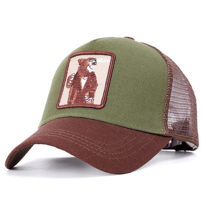 Green and Coffee Baseball net 5c64f225d7615