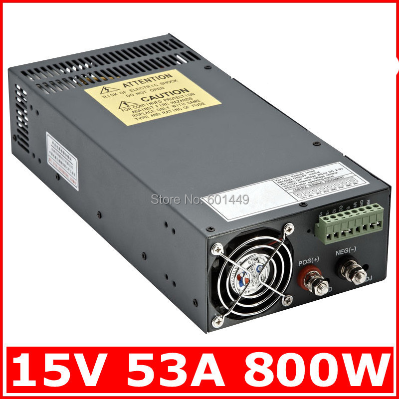 Factory direct> Electrical Equipment & Supplies> Power Supplies> Switching Power Supply> S single output series>SCN-800W-15V high quality manufacturer direct sale switch power supply 800w 15v scn 800 15