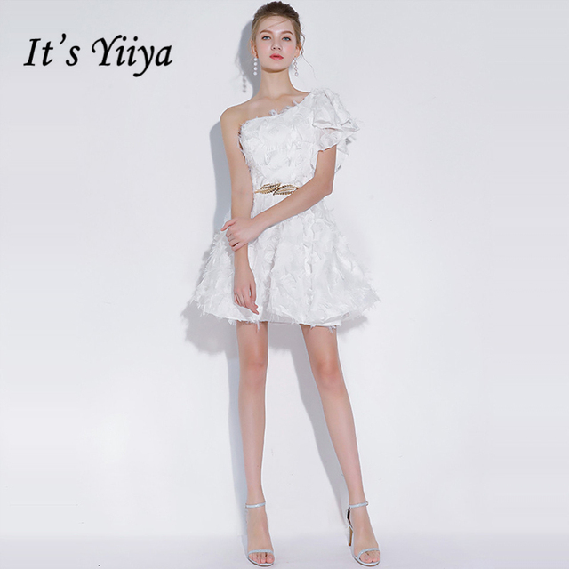 It s YiiYa Cocktail Dress 2018 Sleeveless Party Flower White Black Red Fashion  Designer Elegant Short Cocktail Gowns LX1099 2a92356e2810