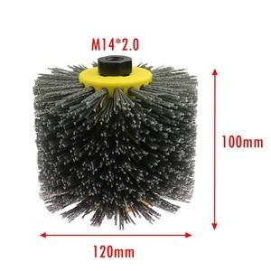 Image 5 - Angle Grinder Abrasive Wire Nylon Brushes P80 Deburring Polishing Buffing Wheel for Furniture Wood