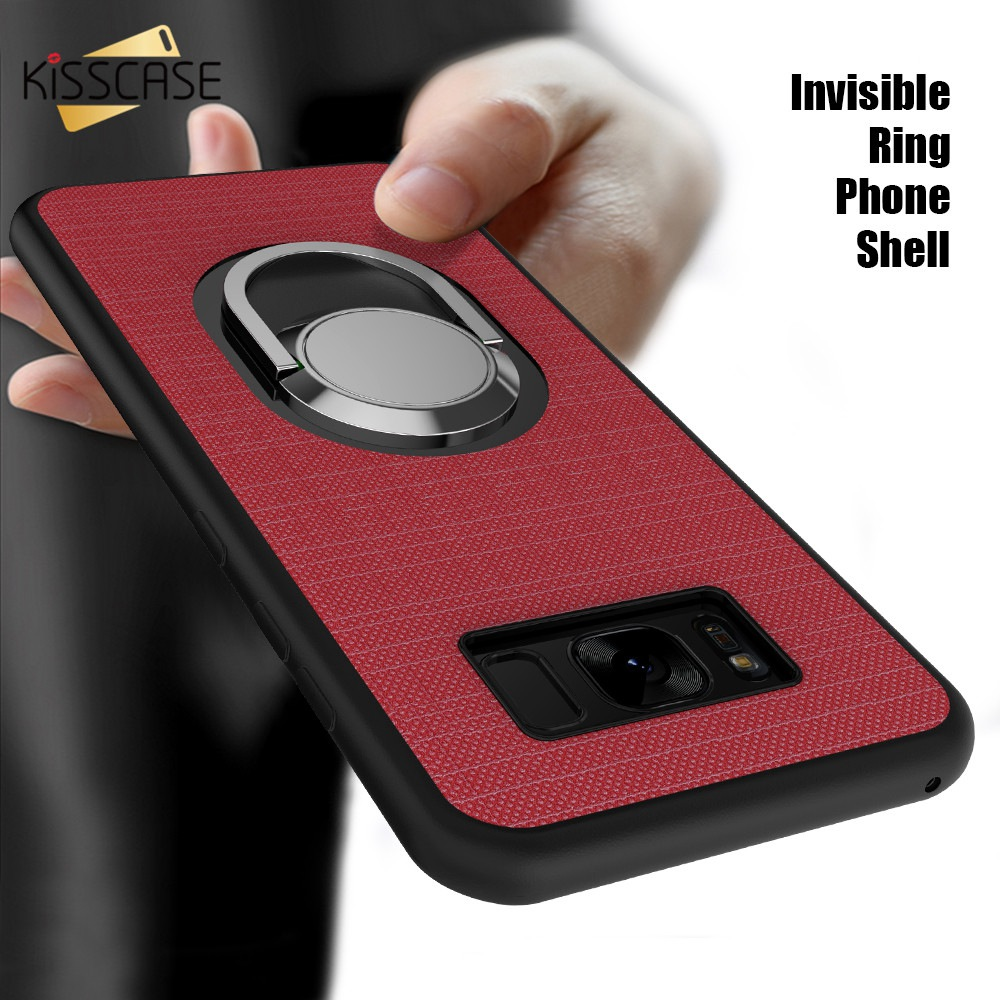KISSCASE Car Magnetic Ring Holder Case For Samsung Galaxy