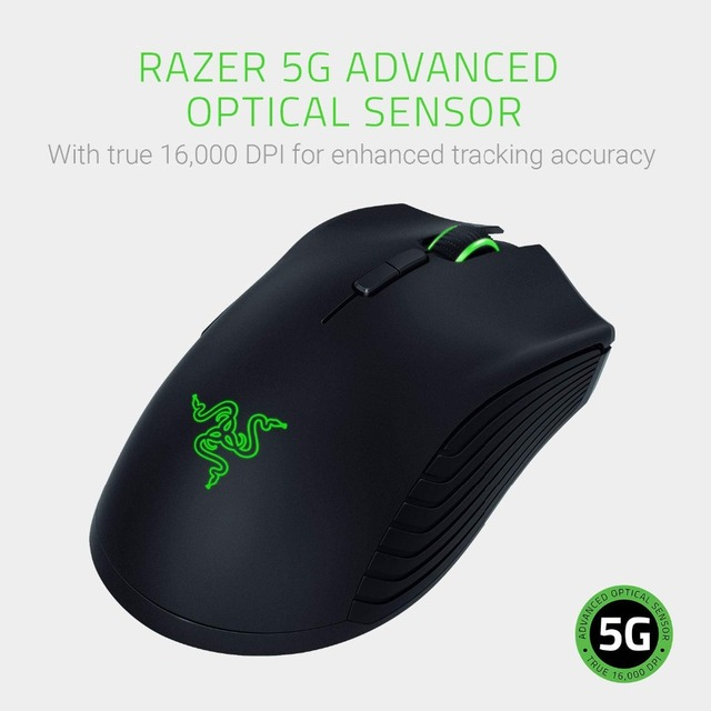 NEW! Razer Mamba Wireless Gaming Mouse True 16000 DPI 5G Optical Sensor 7 Programmable Buttons For Laptop PC Gamer Mouse