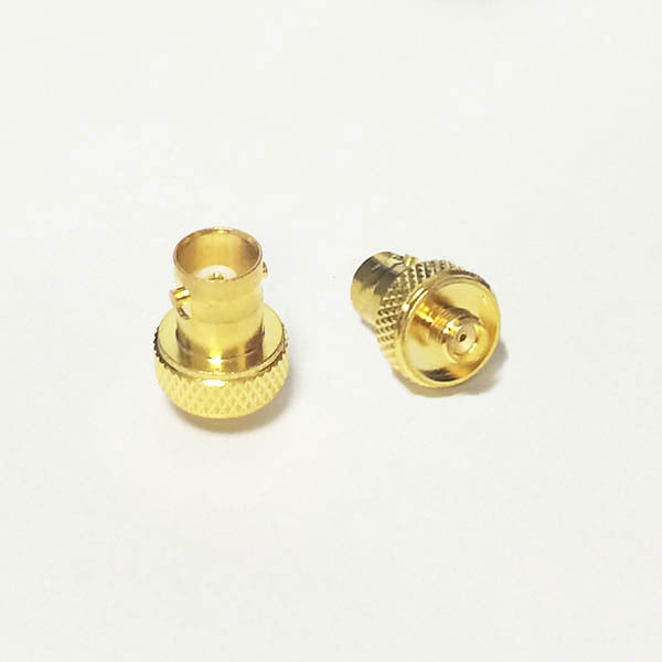 1pc New BNC Female Jack  to SMA Female Jack  RF Coax Adapter convertor  Straight  Goldplated  Gold-plated disc for Baofeng UV-5r areyourshop sale 10pcs adapter bnc female jack to sma male plug rf connector straight gold plating