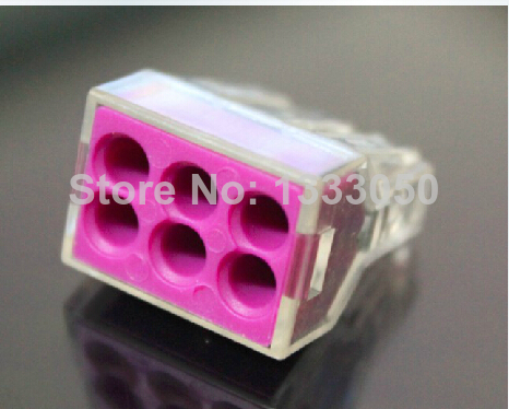 FREE SHIPPING 1-2.5 flat wire connector terminals hard wire junction box connector PCT-106 10 PCS empty 2 5 6 flat wire connector hard wire junction box terminals renovated our current air conditioning connector