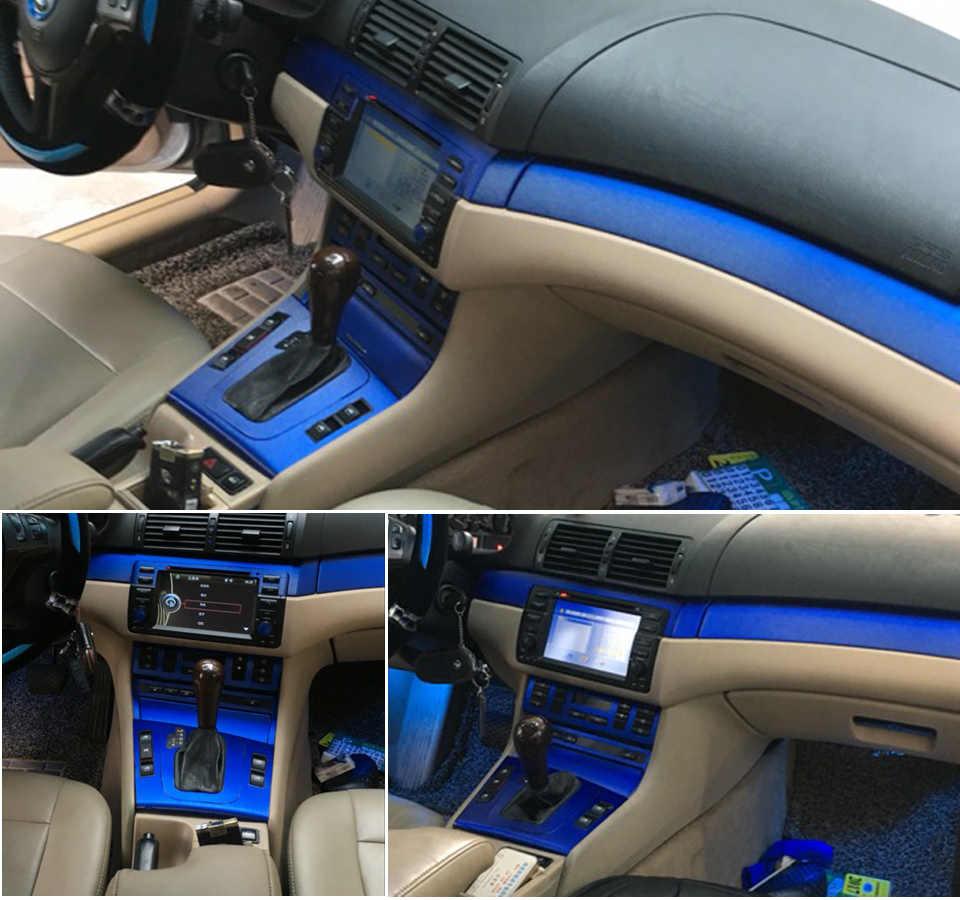 BMW 3 serisi için E46/4 kapı iç merkezi kontrol panelli kapı kolu karbon Fiber etiketler çıkartmaları araba styling aksesuarları