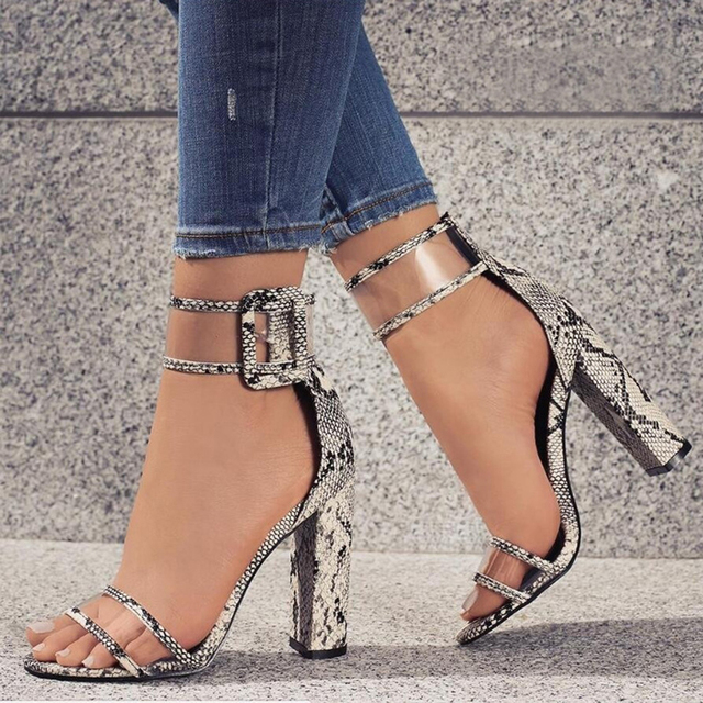 Brand Design transparent High Heels Sandals zapatos mujer sapato feminino buckle Strappy wedding clear sandals dress shoes women