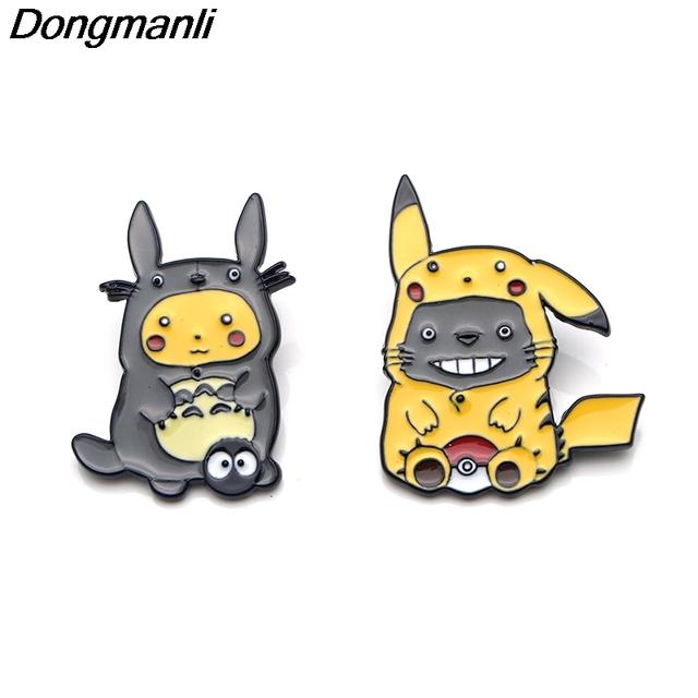 Pikachu Cosplay Metal Enamel Pins and Brooches