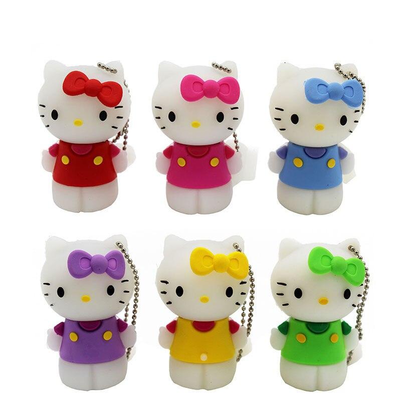 BiNFUL Cute Hello Kitty USB Flash Drive 4GB 8GB 16GB 32GB 64GB Pendrive USB 2.0 Usb Stick