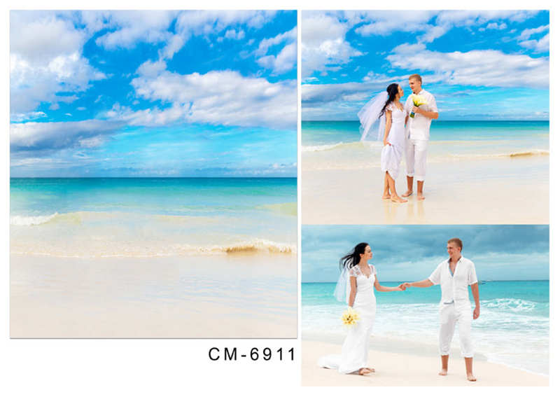 300 * 600 cm 3D bryllup bakgrunn Fotograf bakgrunn Bryllup Sky Beach - Kamera og bilde