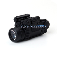 Tactical LED Flashlight X5L White Light 190 lumens Integrated Green Laser Sight 20mm Picatinny Rail Shooting Hunting Light