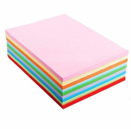 cor 80g multi-cor papel não revestido 12