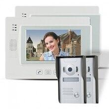 """7 """" TFT con conexión de cable timbre Video portero puerta de vídeo de seguridad cámara de infrarrojos 2V2"""