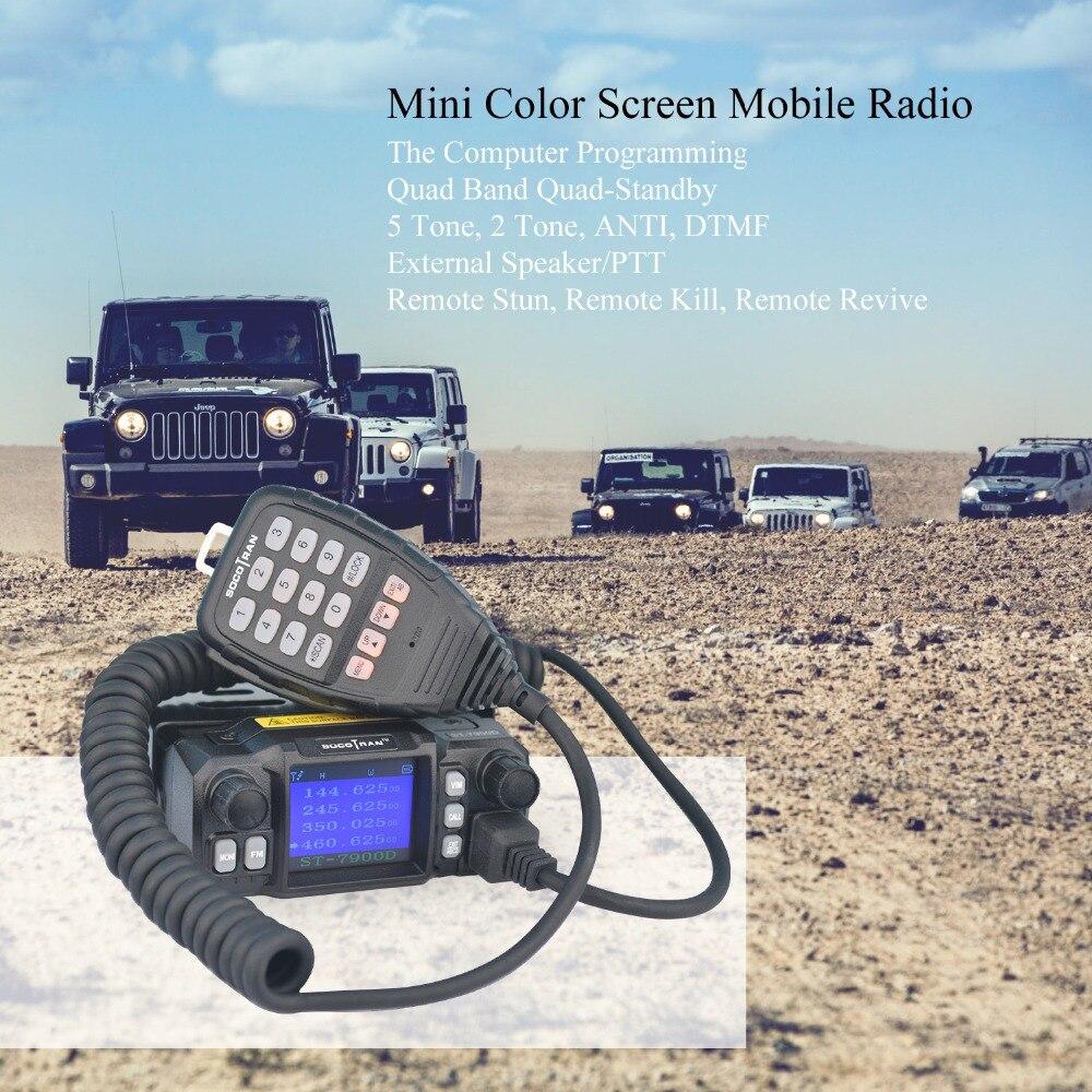 À Moscou De Voiture Mobile Talkie Walkie Amateur Jambon Radio Véhicule Émetteur-Récepteur 136/220/350/440 MHZ 4 bandes UHF VHF Mobile autoradios - 5