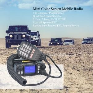 Image 5 - A Mosca Auto Mobile Walkie Talkie Ham Amateur Radio Transceiver Veicolo 136/220/350/440MHZ 4 bande UHF VHF Mobile car radio