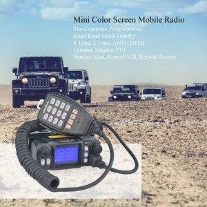 Image 5 - W moskwie samochód mobilny Walkie Talkie amatorski Ham Radio pojazd Transceiver 136/220/350/440MHZ 4 zespoły UHF VHF mobilne radia samochodowe