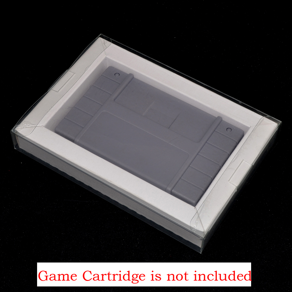 xunbeifang 10pcs For SNES Carton Inner Inlay Insert Tray for PAL & NTSC Game Cartridge with plastic PET Protector Case