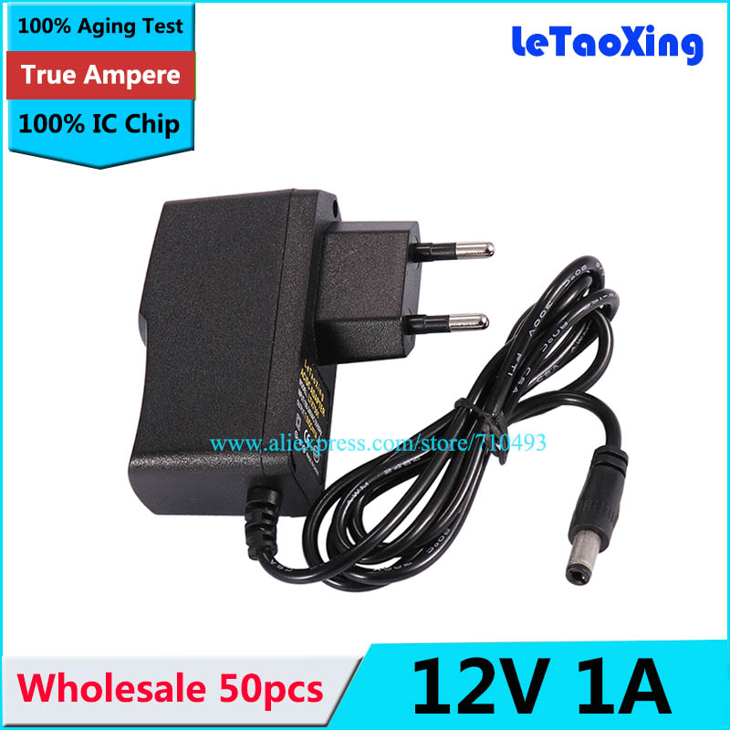 US $105 0 |Wholesale 50pc AC DC Power adapter 12V 1A power supply 12V  adaptor US EU EU Plug DHL free shipping-in AC/DC Adapters from Home  Improvement